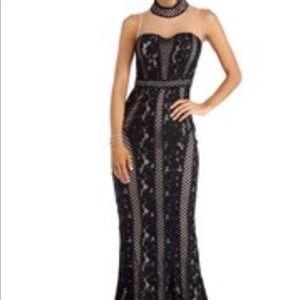 Floor length special occasion dress.